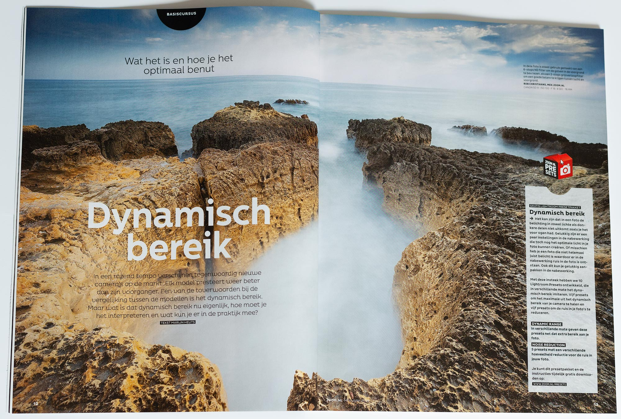 Zoom.nl Magazine mei en juni. Fotograaf Rob Christiaans